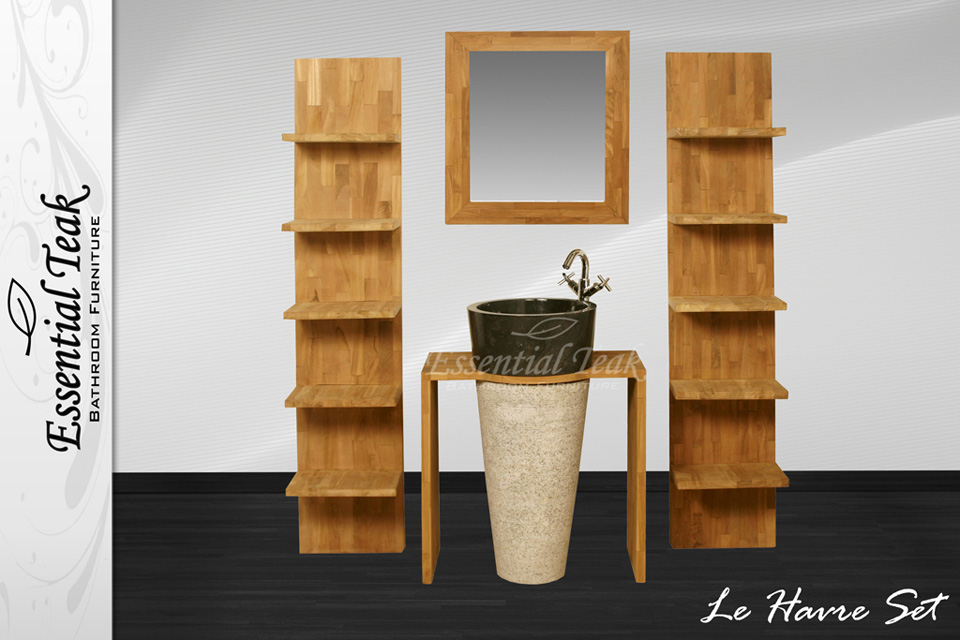 Teakline Collection Teak Badkamermeubelen Le Havre Series